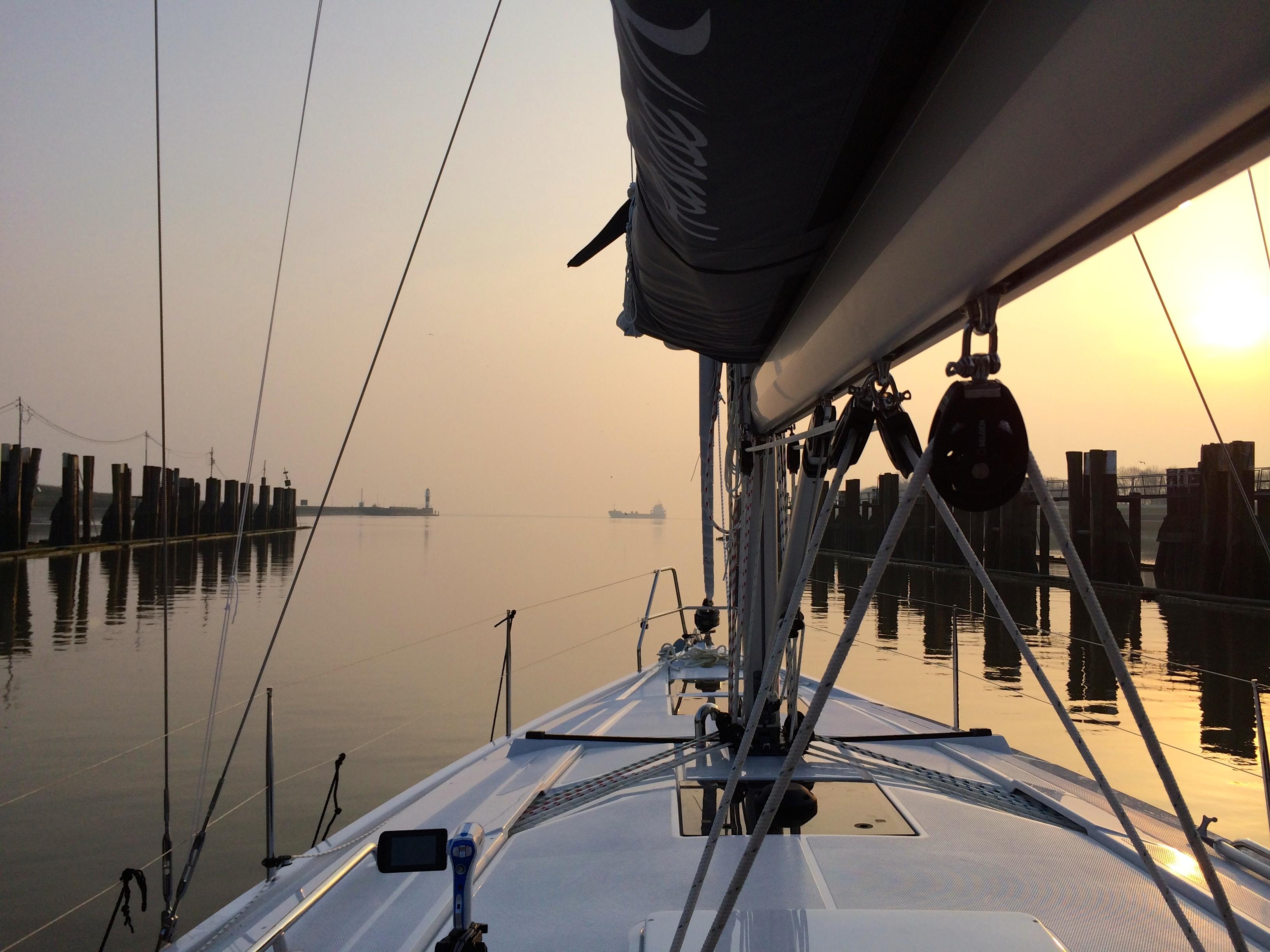 Kiel Exiting Dock